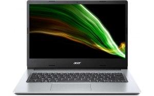 "Ноутбук ACER Aspire 1 A114-33-P07T 14""/IPS/Intel Pentium Silver N6000 1.1ГГц/4ГБ/128ГБ eMMC/Intel UHD Graphics /Eshell/NX.A7VER.00K/серебристый"