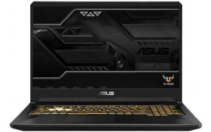 "Ноутбук ASUS TUF Gaming FX705DT-AU103T 17.3""/IPS/AMD Ryzen 7 3750H 2.3ГГц/8Гб/1000Гб/256Гб SSD/nVidia GeForce GTX 1650 4096 Мб/Windows 10/90NR02B1-M02090/темно-серый"