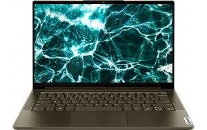 """Ноутбук-трансформер LENOVO Yoga 7 14ITL5 14""""/Intel Core i7 1165G7 2.8ГГц/16ГБ/1ТБ SSD/UMA интегрированное/Windows 10/82BH007SRU/зеленый"""
