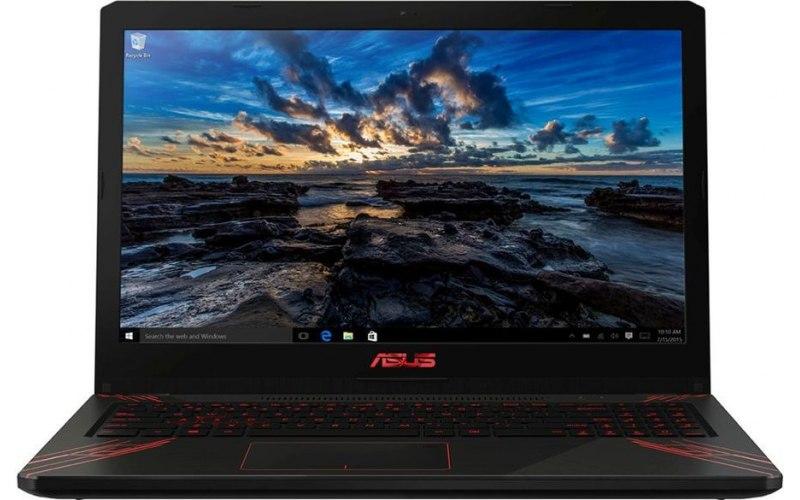 """Ноутбук ASUS FX570UD-FY218 15.6""""/Intel Core i7 8550U 1.8ГГц/8Гб/1000Гб/128Гб SSD/nVidia GeForce GTX 1050 4096 Мб/Endless/90NB0IX1-M02910/черный"""