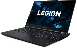 "Ноутбук LENOVO Legion 5 15ITH6 15.6""/IPS/Intel Core i7 11800H 2.3ГГц/16ГБ/512ГБ SSD/NVIDIA GeForce RTX 3050 Ti для ноутбуков - 4096 Мб/noOS/82JK000RRK/темно-синий"