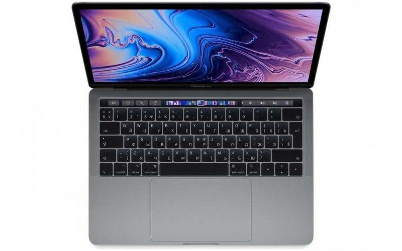 """Ноутбук APPLE MacBook Pro MV962RU/A 13.3""""/IPS/Intel Core i5 8279U 2.4ГГц/8Гб/256Гб SSD/Intel Iris graphics 655/Mac OS Sierra/MV962RU/A/темно-серый"""
