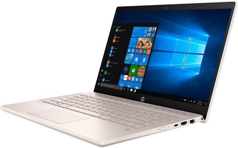 """Ноутбук HP 14-ce1007ur 14""""/IPS/Intel Core i3 8145U 2.1ГГц/4Гб/16Гб Intel Optane/1000Гб/Intel UHD Graphics 620/Windows 10/5SU49EA/розовое золото"""
