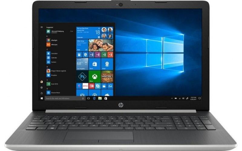 "Ноутбук HP 15-db0062ur 15.6""/AMD A6 9225 2.6ГГц/4Гб/500Гб/AMD Radeon 520 2048 Мб/Windows 10/4KG08EA/серебристый"