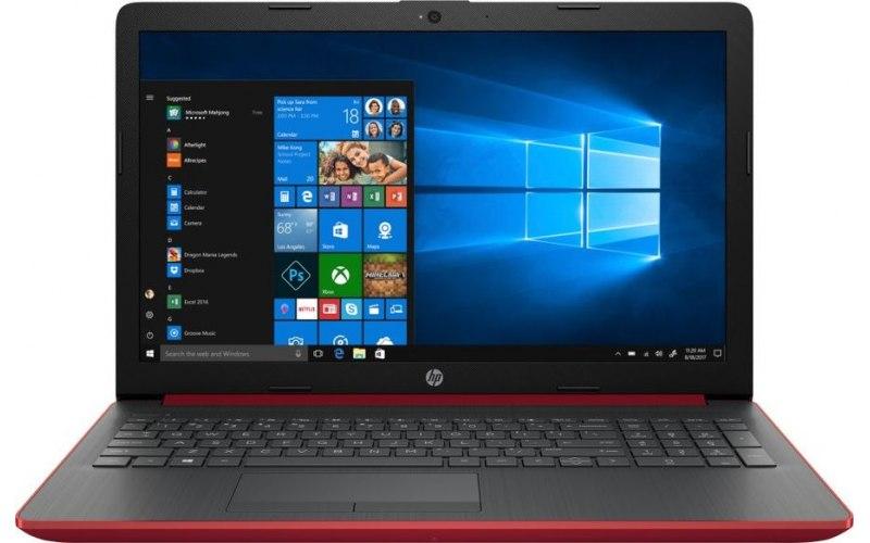 "Ноутбук HP 15-db0155ur 15.6""/AMD Ryzen 3 2200U 2.5ГГц/4Гб/500Гб/AMD Radeon 530 2048 Мб/Windows 10/4MH72EA/красный"