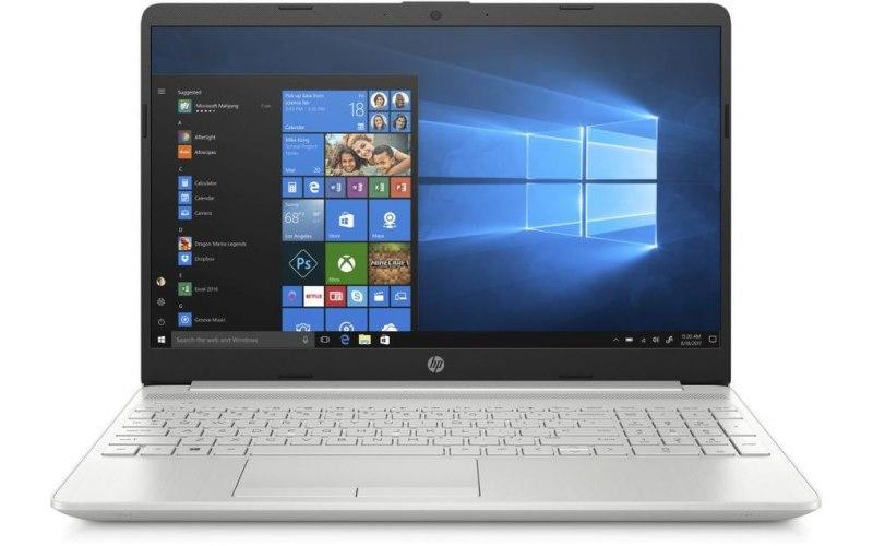 "Ноутбук HP 15-dw0001ur 15.6""/Intel Core i3 7020U 2.3ГГц/4Гб/16Гб Intel Optane/1000Гб/nVidia GeForce Mx110 2048 Мб/Windows 10/6PD48EA/серебристый"