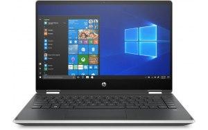 "Ноутбук-трансформер HP Pavilion x360 14-dh0009ur 14""/Intel Core i5 8265U 1.6ГГц/8Гб/1000Гб/128Гб SSD/Intel UHD Graphics 620/Windows 10/6RK74EA/серебристый"