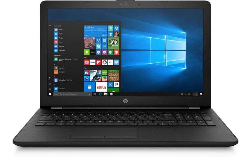 "Ноутбук HP 15-bs181ur 15.6""/Intel Pentium 4417U 2.3ГГц/4Гб/500Гб/0хIntel HD Graphics 610/DVD-RW/Windows 10/4UT95EA/черный"