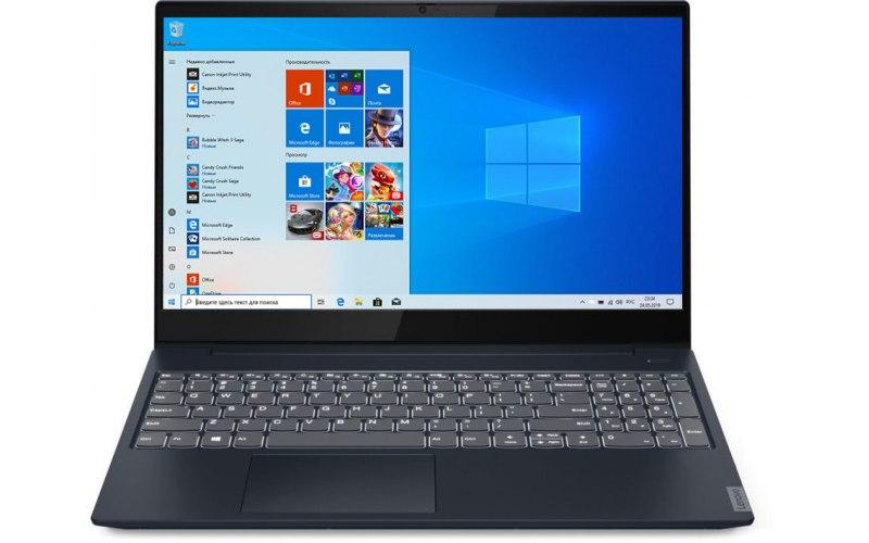 "Ноутбук LENOVO IdeaPad S340-15IIL 15.6""/IPS/Intel Core i5 1035G1 1.0ГГц/12Гб/256Гб SSD/Intel UHD Graphics /Windows 10/81VW00EYRU/синий"