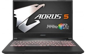 Ноутбук GIGABYTE Aorus 5 KB-7RU1130SH 15.6/IPS/Intel Core i7 10750H 2.6ГГц/16ГБ/512ГБ SSD/NVIDIA GeForce RTX 2060 - 6144 Мб/Windows 10/9RC45KB8BG4S1RU0000/черный