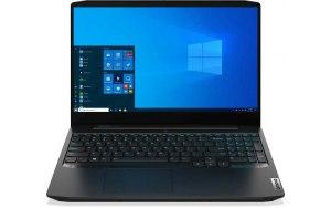 "Ноутбук LENOVO IP Gaming 3 15ARH05 15.6""/IPS/AMD Ryzen 5 4600H 3.0ГГц/8ГБ/256ГБ SSD/NVIDIA GeForce GTX 1650 - 4096 Мб/Windows 10/82EY000CRU/черный"