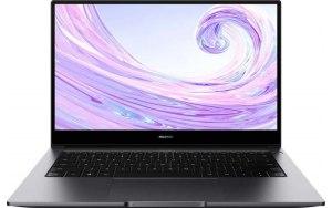 """Ноутбук HUAWEI MateBook D 14 NbB-WAI9 14""""/IPS/Intel Core i3 10110U 2.1ГГц/8ГБ/256ГБ SSD/Intel UHD Graphics /Windows 10/53011UXA/серый"""