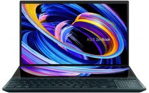 """Ноутбук ASUS ZenBook Pro Duo UX582LR-H2005T 15.6""""/Intel Core i7 10870H 2.2ГГц/16ГБ/1ТБ SSD/NVIDIA GeForce RTX 3070 для ноутбуков - 8192 Мб/Windows 10/90NB0U51-M02270/синий"""
