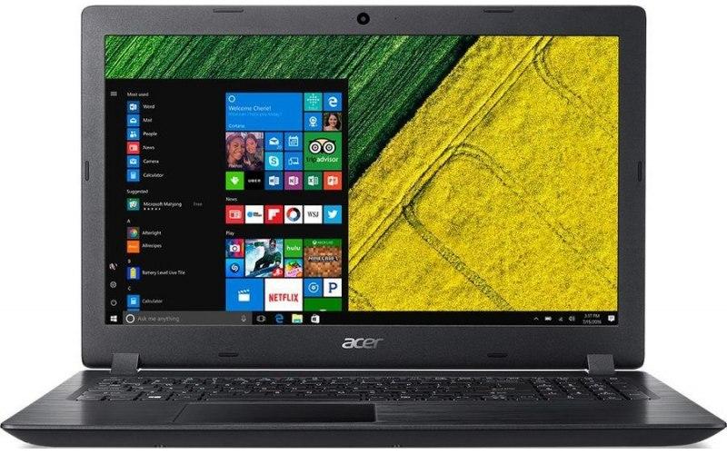 """Ноутбук ACER Aspire 3 A315-51-34B6 15.6""""/Intel Core i3 7020U 2.3ГГц/4Гб/500Гб/128Гб SSD/Intel HD Graphics 620/Linux/NX.H9EER.003/черный"""