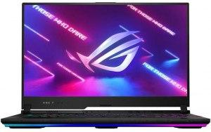 Ноутбук ASUS ROG Strix SCAR 17 G733QS-HG101T 17.3/IPS/AMD Ryzen 9 5900HX 3.3ГГц/16ГБ/1ТБ SSD/NVIDIA GeForce RTX 3080 для ноутбуков - 16384 Мб/Windows 10/90NR0591-M01930/черный