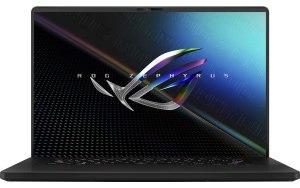 "Ноутбук ASUS ROG Zephyrus GU603HE-K8019 16""/IPS/Intel Core i7 11800H 2.3ГГц/16ГБ/512ГБ SSD/NVIDIA GeForce RTX 3050 Ti для ноутбуков - 4096 Мб/noOS/90NR07C1-M00360/черный"