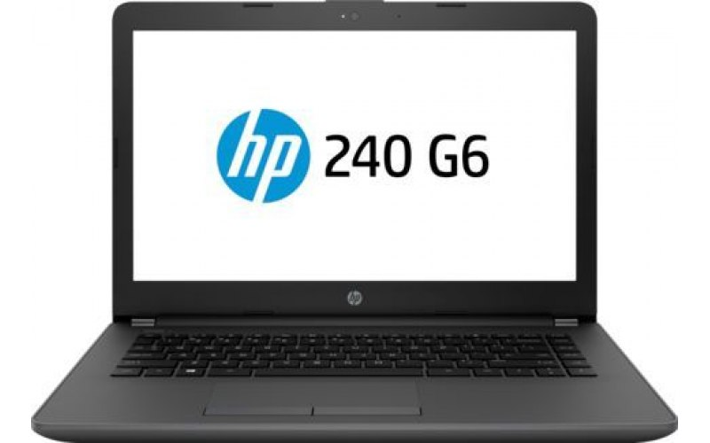 "Ноутбук HP 240 G6 14""/Intel Core i3 7020U 2.3ГГц/8Гб/256Гб SSD/Intel HD Graphics 620/Free DOS 2.0/7DE68ES/черный"