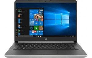 "Ноутбук HP 14s-dq0000ur 14""/Intel Pentium 4417U 2.3ГГц/4Гб/128Гб SSD/Intel HD Graphics 610/Windows 10/7DZ84EA/серебристый"