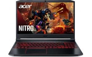 """Ноутбук ACER Nitro 5 AN515-55-78JX 15.6""""/IPS/Intel Core i7 10750H 2.6ГГц/16ГБ/512ГБ SSD/NVIDIA GeForce RTX 3050 для ноутбуков - 4096 Мб/Windows 10/NH.QB0ER.002/черный"""