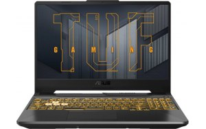 "Ноутбук ASUS TUF Gaming FX506HCB-HN1138T 15.6""/IPS/Intel Core i5 11400H 2.7ГГц/8ГБ/512ГБ SSD/NVIDIA GeForce RTX 3050 для ноутбуков - 4096 Мб/Windows 10/90NR0723-M04810/серый"