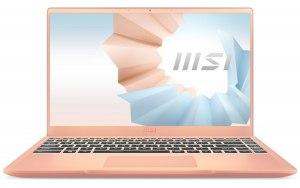 """Ноутбук MSI Modern 14 B11SB-284RU 14""""/IPS/Intel Core i7 1165G7 16ГБ/512ГБ SSD/NVIDIA GeForce MX450 - 2048 Мб/Windows 10/9S7-14D215-284/розовое золото"""