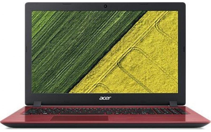 "Ноутбук ACER Aspire 3 A315-53-386T 15.6""/Intel Core i3 7020U 2.3ГГц/4Гб/128Гб SSD/Intel HD Graphics 620/Windows 10 Home/NX.HAEER.003/красный"