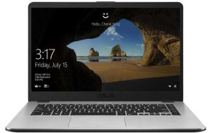 "Ноутбук Asus VivoBook X505ZA-BQ837 Ryzen 3 2200U 8Gb/SSD256Gb/R3/15.6""/FHD/Endless/grey [90nb0i12-m13540]"