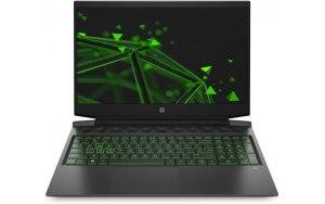 "Ноутбук HP Pavilion Gaming 16-a0018ur 16.1""/IPS/Intel Core i5 10300H 2.5ГГц/16ГБ/1000ГБ/256ГБ SSD/NVIDIA GeForce GTX 1650 - 4096 Мб/Free DOS/22Q54EA/черный/зеленый"