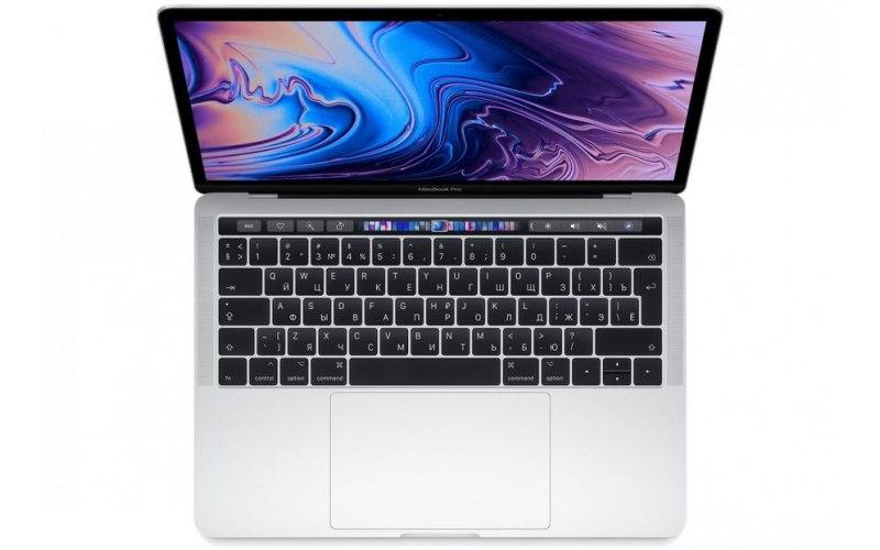 "Ноутбук APPLE MacBook Pro MR9U2RU/A 13.3""/IPS/Intel Core i5 8259U 2.3ГГц/8Гб/256Гб SSD/Intel Iris graphics 655/Mac OS Sierra/MR9U2RU/A/серебристый"