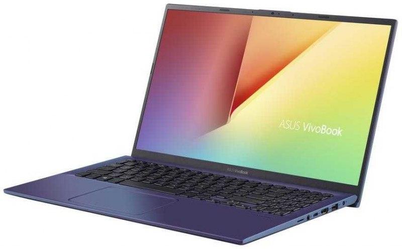 """Ноутбук ASUS VivoBook X512FL-BQ260T 15.6""""/Intel Core i5 8265U 1.6ГГц/8Гб/256Гб SSD/nVidia GeForce MX250 2048 Мб/Windows 10/90NB0M96-M03400/синий"""