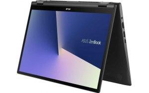 """Ультрабук ASUS Zenbook Flip UX463FL-AI023T 14""""/IPS/Intel Core i5 10210U 1.6ГГц/8Гб/512Гб SSD/nVidia GeForce MX250 - 2048 Мб/Windows 10/90NB0NY1-M00770/серый"""