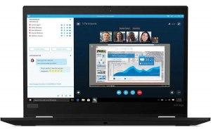 """Ноутбук LENOVO ThinkPad X13 Yoga G1 T 13.3""""/Intel Core i5 10210U 1.6ГГц/8ГБ/256ГБ SSD/Intel UHD Graphics /Windows 10 Professional/20SX0001RT/черный"""