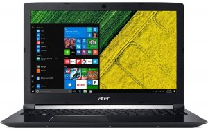 "Ноутбук ACER Aspire 7 A715-72G-77C6 15.6""/Intel Core i7 8750H 2.2ГГц/8Гб/1000Гб/nVidia GeForce GTX 1050 Ti 4096 Мб/Windows 10 Home/NH.GXCER.005/черный"